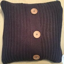 Catherine Lansfield Knitted Cushion Charcoal