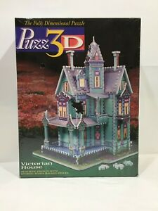 Vtg 1994 Puzz 3D Victorian House Fully Dimensional Puzzle New Sealed MB 700 Pcs