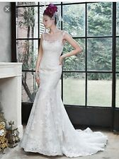"MAGGIE SOTTERO COUTURE ""NOELLE"" WEDDING GOWN BRIDAL BRIDE DRESS IVORY SIZE 10"
