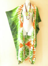 Tie Dye Cardigan Duster Kaftan Batwing Plus Size Maxi Hippy Jacket - up to 5X