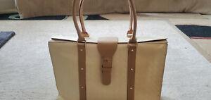 ARCADIA White Leather Shoulder Bag Flap Satchel (PLEASE VIEW PHOTOS)