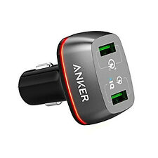 Anker 42W 2-Port USB Car Charger for Smartphone and Tablet Quick Charge 3.0 +2.0