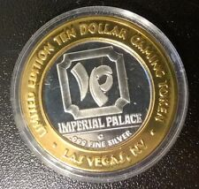 Limited Edition TEN DOLLAR .999 SILVER Gaming Coin Token From Imperial Palace