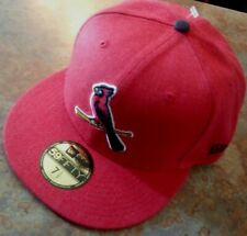ST. LOUIS CARDINALS HAT BY NEW ERA 59FIFTY/FITTED/ FLAT-BILL, RED,/ SZ. 7 1/2