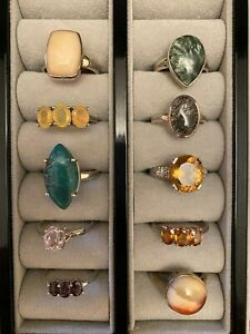 GEMPORIA GEMSTONE RINGS SIZE T - U STERLING SILVER TOOKALON ANNABELLA COLLECTION