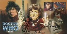 """Doctor Who """"Meglos"""" Collectable Stamp Cover - Triple Signed Special"""