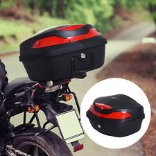 HOMCOM Motorcycle Tail box 48L Top Case Motorbike Trunk Helmet Carrier Luggage