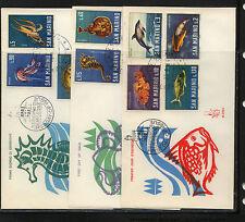 San  Marino  fish   stamps  3  covers  Veneita cachet           MS0314