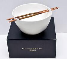 Donna Karan Lenox Porcelain Touch Noodle Bowl with Chopsticks 2.3qt Brand New