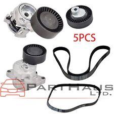 For BMW E46 E39 X5 E53 Belt Tensioner Alternator AC Idler Pulley W/ Belt Kit 5pc
