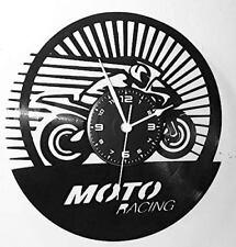 OROLOGIO DA PARETE - In Vinile - Corsa Pista Gara - MOTO RACING