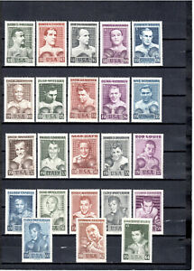 6 Slania1964  HEAVY WEIGHT BOXER WORLD CHAMPINS COMPLET SET OF 23, MNH selected.