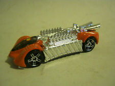 Hot Wheels Orange Krazy 8s, dated 2000, tail wing missing, Fair (EB2-20)