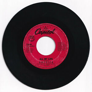 Philippines AMERICA All My Life 45 rpm Record