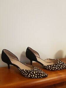 MIMCO Women shoes size 37  kitten heel two-tone leather  pre-loved  like new