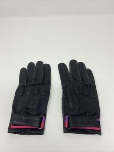 Rapha Paul Smith Leather Track Gloves - Black Small