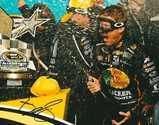JAMIE MCMURRAY signed NASCAR 8X10 VICTORY LANE TROPHY photo with COA