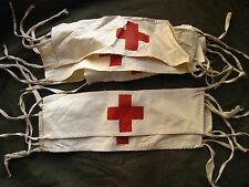 WW2 RED ARMY MEDICAL SERVICE LINEN ARMBAND with PAINTED RED CROSS - 1940s