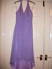 LADIES LILAC DRESS SUITABLE FOR BRIDESMAID SIZE 10 NEW (EX- DISPLAY)