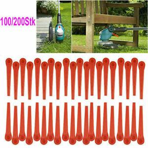 200X Kunststoffmesser Ersatzmesser für Gardena Rasentrimmer EasyCut Li-18/23R DE