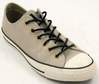 Converse Chucks Lo Leather Frayed Burlap Egret Black Men's Sneakers Sz 7.5 M