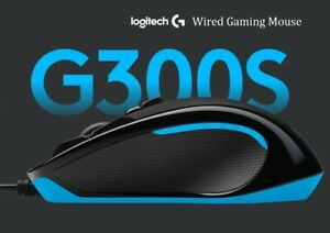 Logitech G300S Wired Gaming Mouse 9 buttons RGB Programmable Optical 2500 DPI