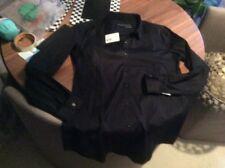 Kooples Femme Ajustée Chemise Noire Taille L 12 BNWT STRETCH Popeline