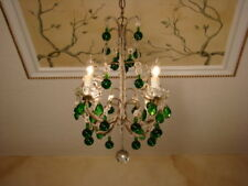 FANTASTIC ANTIQUE FRENCH ITALIAN MACARONI MURANO GLASS CHANDELIER 4L