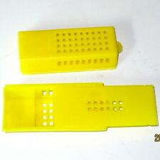 10 pcs Yellow Plastic Function Lengthen Cage For Queen Bees Beekeeping Tools