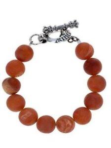 King Baby Studio 10mm Peach Druzy Agate Bracelet w/ Silver Clasp K42-5156DPE