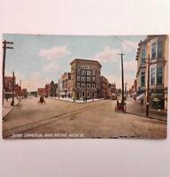 Antique Postcard Street Scene Commercial Bank Building Drug Store Macon Georgia