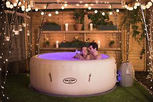 Bestway Lay-Z-Spa Paris Inflatable Hot Tub | 4-6 People | LED Lighting