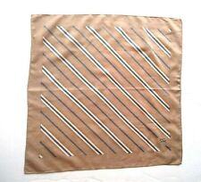 Burberrys Bandana Pocket Square Handkerchief Neckerchief Striped Brown Blue