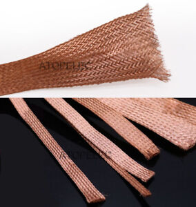 1M/5M Shielded Copper Braided Expandable Sleeving Cable Wire Sheath 2-25mm Width