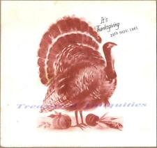 1961 Us Army 39th 10th Artillery Conn Barracks Germany Thanksgiving Dinner Menu