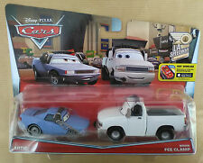 Disney Pixar Cars ARTIE & BRIAN FEE CLAMP Nuovi in Blister rotto. Spediti sfusi