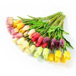 1 Bouquet Tulip Artificial Flower Fake Floral Home Garden Wedding Festival Decor