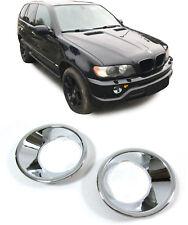 Nebelscheinwerfer Rahmen Umrandungen chrom für BMW X5 E53 99-03