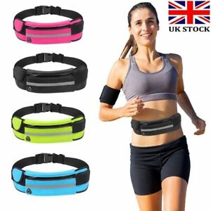 Zipped Sports Running Jogging Waist Travel Bum Bag Phone Keys Mobile Money Belt