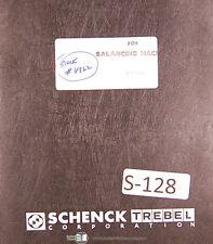 Schenck Aae 0003 Balancing Machine Users Instructions Manual