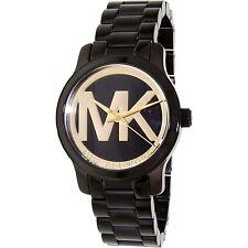 Michael Kors Women's Runway MK6057 Black Stainless-Steel Quartz Fashion Watch