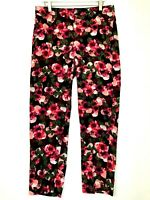 Banana republic Avery mid rise straight crop leg ankle floral print new 8L long