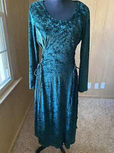Vintage Velvet Dana Scott Corset Lace Up Renaissance Style Dress Size Large