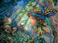 1000 Pieces Kids Adult Puzzle Druid Girl Small Animals Jigsaw Difficult Puzzle