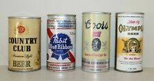 New ListingLot of 4 Small Mini 7 oz 8 oz Beer Cans Empty Country Club Pabst Coors Olympia