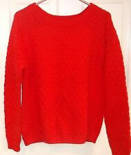 OLD NAVY~ORANGE Textured SWEATER~size LARGE~NEW~Chunky Cable Knit Top
