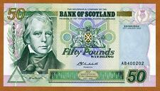 Bank of Scotland, 50 pounds, 2003, P-122c UNC > Commemorative, Rare