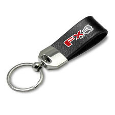 Ford F150 FX4 Off Road Large Genuine Black Leather Loop Strap Key Chain Keychain