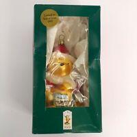 Winnie the Pooh blown glass ornament 1997 blown glass original box Christmas