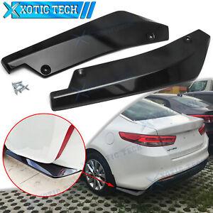 For Kia Optima Gloss Black JDM Style Rear Bumper Splitter Lip Diffuser Canards